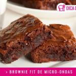 Brownie Fit de Micro-ondas