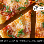 Pizza Fit com Massa de Farinha de Arroz (Sem Glúten)