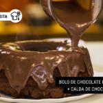 Bolo de Chocolate Low Carb + Calda de Chocolate Fit