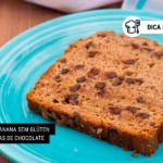 Pão de Banana sem Glúten com Gotas de Chocolate