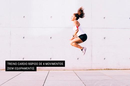 a imagem mostra o movimento chamado de agachamento com salto e elevação de joelhos